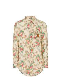 Tan Linen Long Sleeve Shirt