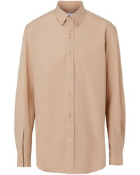 Burberry Classic Fit Double Press Stud Cotton Shirt
