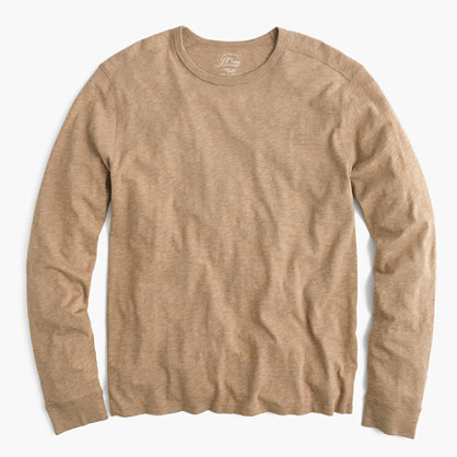 ... J.Crew Long Sleeve Textured Cotton T Shirt ... faf99c713