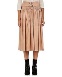 Tan Midi Skirt