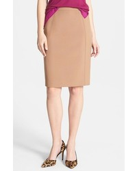 Tan pencil skirt original 1454145