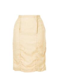 Uma Wang Midi Straight Skirt