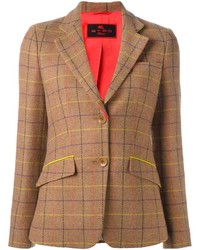 Tan Plaid Blazer
