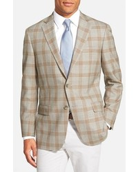 Classic fit plaid wool sport coat medium 315003