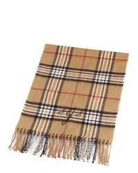 Tan Plaid Scarf