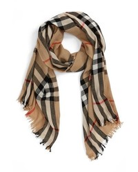 Burberry Check Merino Wool Cashmere Scarf