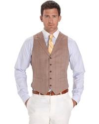 Brooks Brothers Multi Deco Herringbone Vest