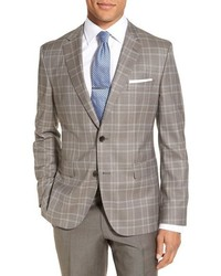 Jeen trim fit plaid wool sport coat medium 756435