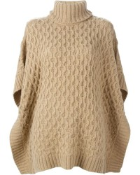 Michl michl kors cable knit poncho sweater medium 340280