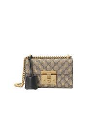 Gucci Gold Gg Bees Padlock Small Shoulder Bag