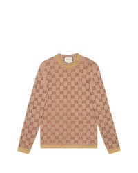 Gucci Sweater With Crystal Gg Motif