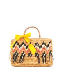 SENSI STUDIO Sensi La Cartera Zigzag Pattern Handbag