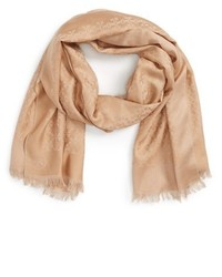 Tory Burch All Over T Silk Cotton Jacquard Scarf