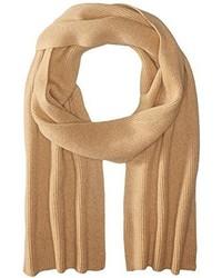 Phenix Cashmere Half Cardigan Rib Knit Scarf
