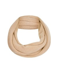 Topshop Rolled Edge Infinity Scarf Camel One Size One Size