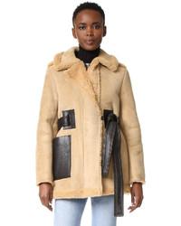 Fayette suede shearling coat medium 723520