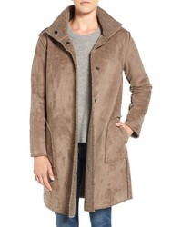 Velvet by Graham & Spencer Lux Reversible Faux Shearling Coat