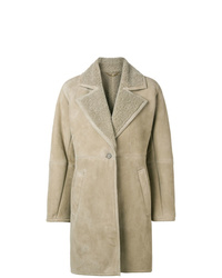 Salvatore Ferragamo Shearling Lined Coat