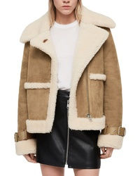 Tan shearling jacket original 10139903