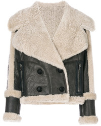Fitted shearling jacket medium 4985493