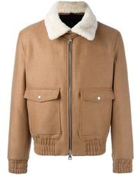 Zipped bomber jacket shearling collar medium 1157371