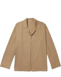Auralee Wool And Silk Blend Overshirt