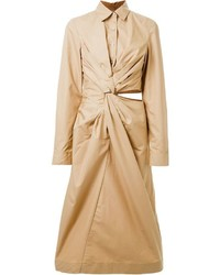Jil Sander Twist Detail Shirt Dress