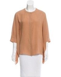 Tan Short Sleeve Blouse