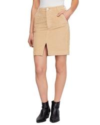 Tan Slit Pencil Skirt