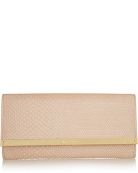 Jimmy Choo Milla Snake Effect Leather Clutch