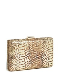 Natasha Couture Sequin Snake Embossed Clutch