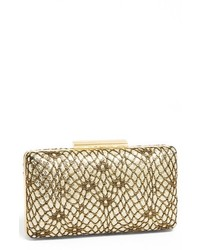 Natasha Couture Snake Sequin Box Clutch