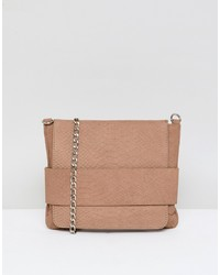 Urbancode Leather Cross Body Bag In Snake Effect