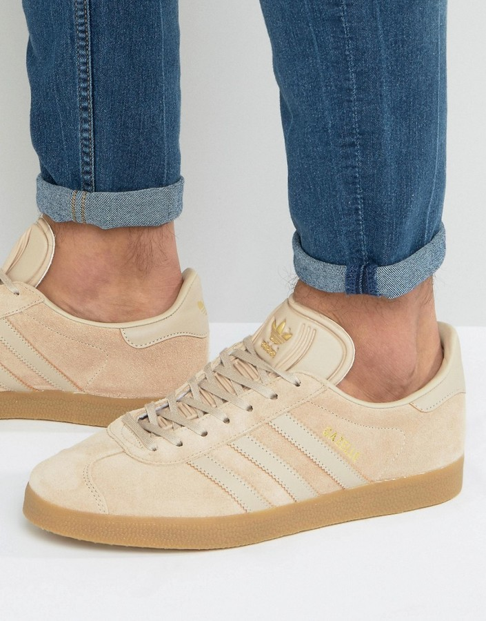 Adidas Originals Gazelle sneaker in beige