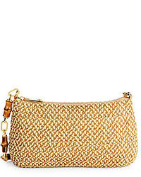 Tan Straw Clutch