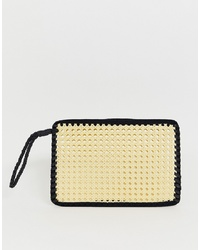 ASOS DESIGN Straw Clutch Bag With Handle