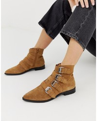 ASOS DESIGN Alissa Leather D Boots Suede