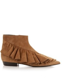 Ruffled suede ankle boots medium 720066