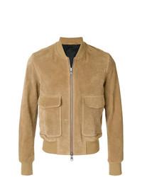 AMI Alexandre Mattiussi Zipped Suede Jacket