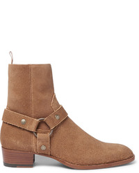 Suede harness boots medium 700915