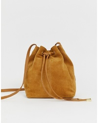 ASOS DESIGN Suede Bucket Bag
