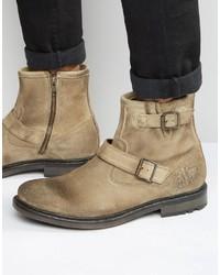 Zinc suede biker boots medium 822918