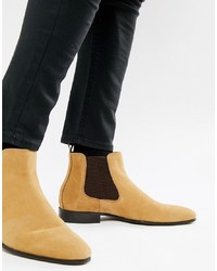 Aldo Chenadien Chelsea Boots In Beige Leather