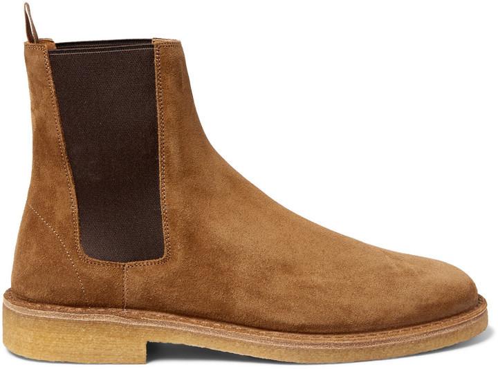 ... Tan Suede Chelsea Boots Saint Laurent Cigar Suede Chelsea Boots ... 73c7c00bb