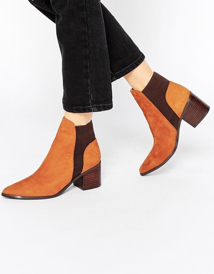 Aldo Etiweil Tan Leather Heeled Chelsea Boots