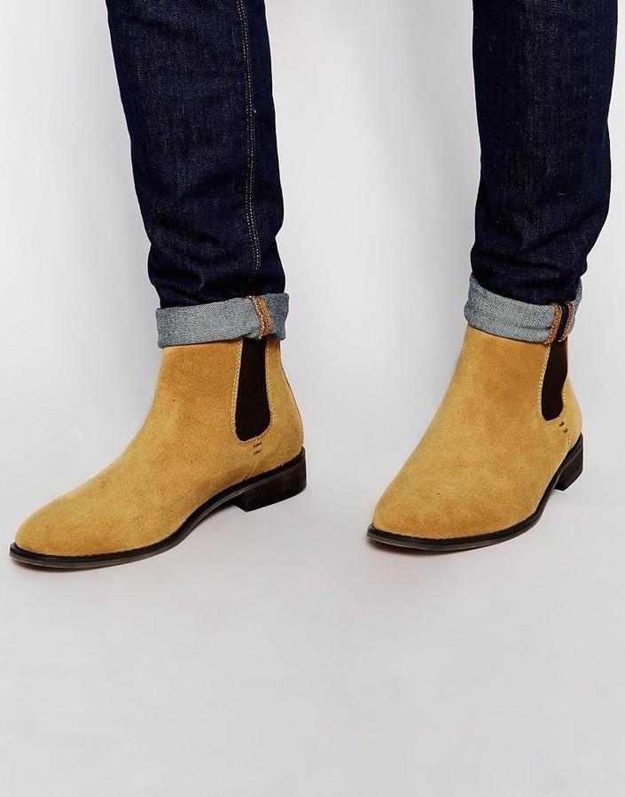 Suede Chelsea Boots - Black Bellfield cHSBs8yn3