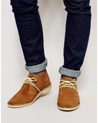Asos Brand Desert Boots In Suede