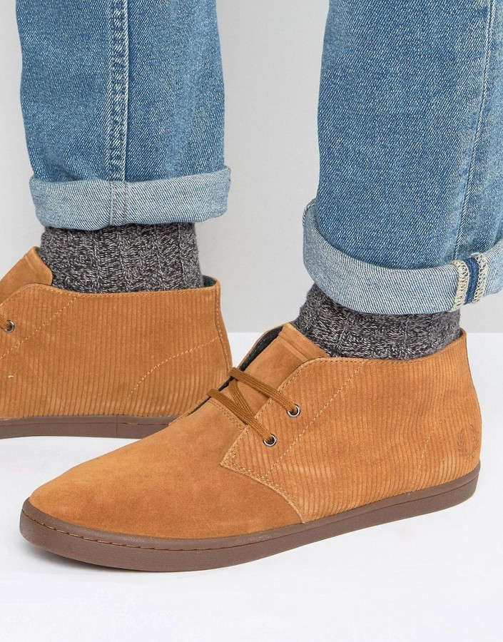 chaussures de sport 5aceb 86b9e £52, Fred Perry Byron Suede Mid Chukka Boots
