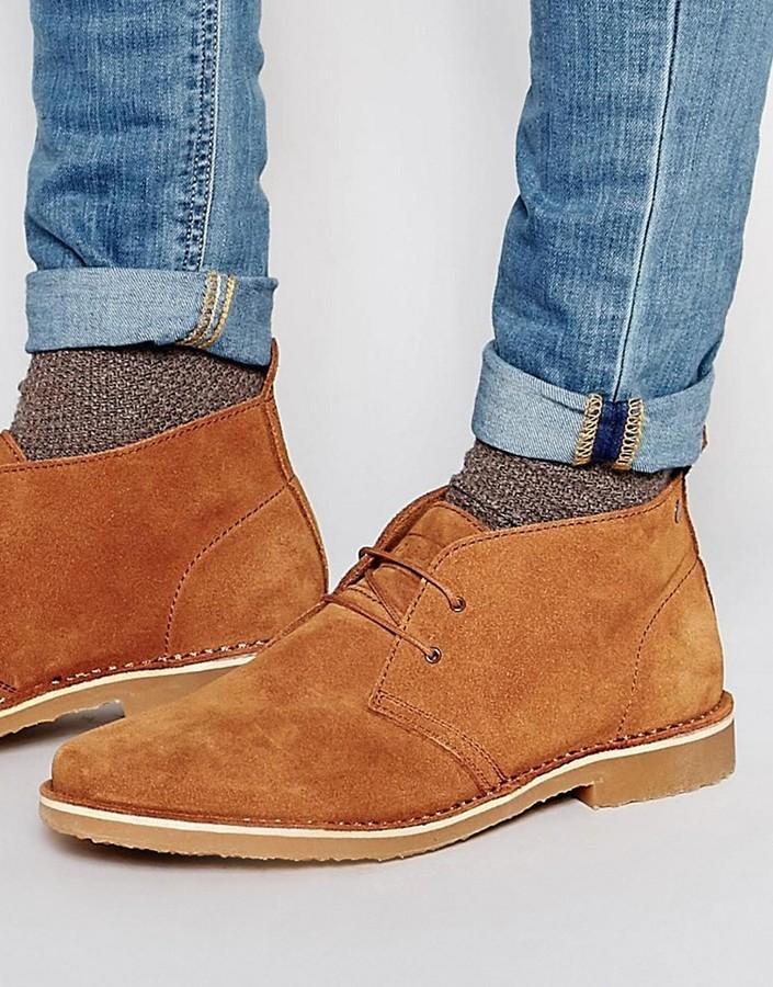 ... Jack and Jones Jack Jones Gobi Suede Chukka Boots ...