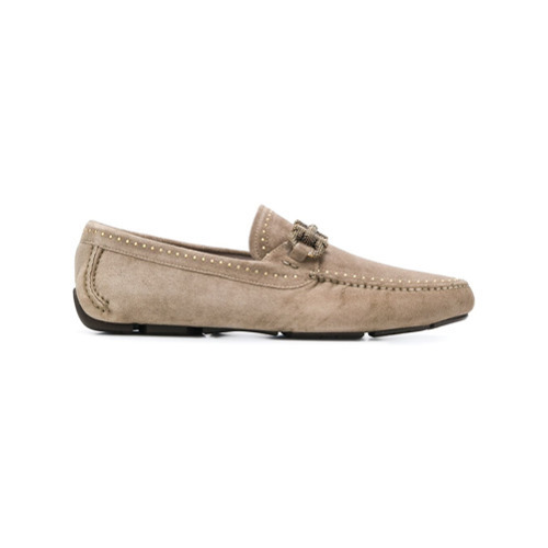 ec790c67555 ... Shoes Salvatore Ferragamo Textured Gancio Loafers ...
